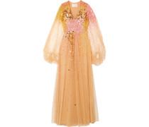 Madeline Pailettenverzierte Robe aus Tüll