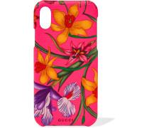 Strukturierte Iphone X-hülle mit Blumenprint