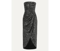 Trägerloses Kleid aus Satin