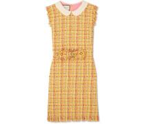 Minikleid aus Tweed mit Fransen