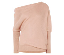 Asymmetrischer Pullover aus einer Mohair-seidenmischung