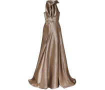 Robe aus Lurex® mit Raffung