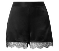 The Liliana Shorts aus Seiden-charmeuse