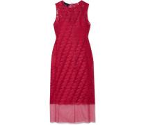 Kleid aus Tüll und Seide mit Stickereien