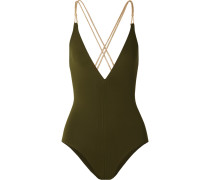Bangles Blondi Badeanzug mit Metallic-besatz