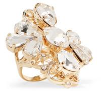 farbener Ring mit Kristallen