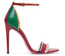 Ilse Sandalen aus Leder mit Kristallen