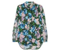 Crêpe-bluse mit Blumen-print