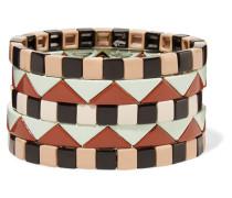 Mosaic Set aus Fünf Armbändern mit Emaille
