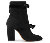 Lorraine Ankle Boots aus Veloursleder