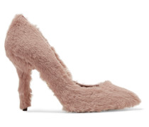 Pumps aus Faux Fur
