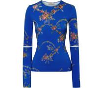 Oberteil aus Stretch-jersey mit Blumenprint
