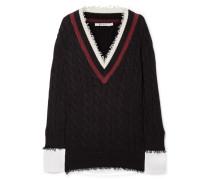 Pullover aus einer Baumwollmischung und Popeline