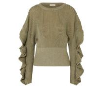 Gerippter Pullover aus einer Seidenmischung in Metallic-optik