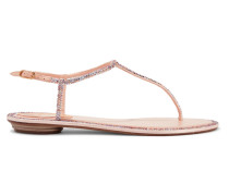 Diana Sandalen aus Leder und Satin