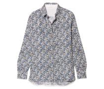Bedrucktes Hemd aus Seidenkrepon