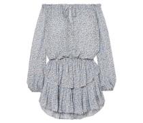 Popover Schulterfreies Kleid aus Seiden-georgette