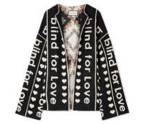 Oversized-jacke aus Jacquard aus einer Woll-kaschmirmischung