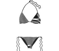 Mare Donna Gestreifter Triangel-bikini aus Strick in Häkeloptik