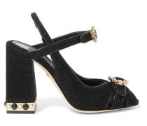 Kristallverzierte Slingback-sandalen aus Lurex®