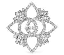 Verte Brosche mit Kristallen