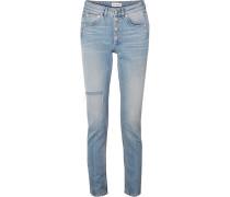 Hoch Sitzende Distressed-jeans