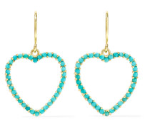 Heart Ohrringe aus 18 Karat  mit Türkisen