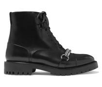 Barke Ankle Boots aus Leder mit Kettendetail