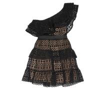 Stufenförmiges Minikleid aus Guipure-spitze