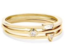 Set aus Drei Ringen aus 18 Karat  mit Diamanten