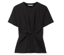 T-shirt aus Baumwoll-jersey mit Twist-detail