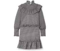 Charron Minikleid aus Kariertem Seersucker aus einer Baumwollmischung