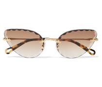 Rosie Goldfarbene Sonnenbrille
