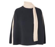 Bluse aus Seiden-cady in Cape-optik