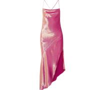 Goldie Asymmetrisches Kleid aus einer Seidenmischung in Metallic-optik