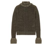 Pullover aus Rippstrick in Metallic-optik