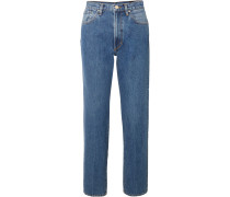 Classic Fit Hoch Sitzende Jeans