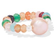 Couleur Caviar Ring mit Perlen und Achaten