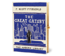 The Great Gatsby Bestickte Clutch aus Canvas