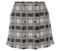 Tweed-minirock aus einer Karierten Wollmischung