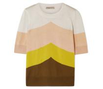 Pullover aus einer Metallic-wollmischung in Colour-block-optik