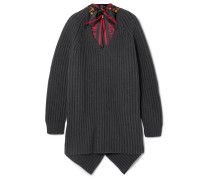Pullover aus Gerippter Wolle