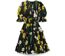 Kleid aus Seidenchiffon mit Floralem Print