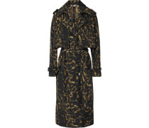 Trenchcoat mit Leopardenprint