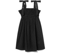 Minikleid aus Baumwoll-voile mit Polka-dots