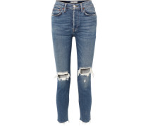 Originals High-rise Ankle Crop Skinny Jeans in Distressed-optik