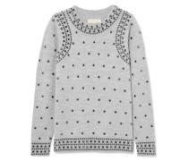 Pullover aus einer Woll-alpakawollmischung
