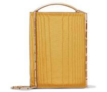 Mak Schultertasche aus Baumwoll-moiré und Leder
