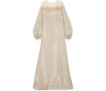 Verzierte Robe aus Lamé mit Tülleinsatz