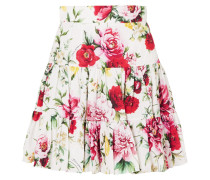 Minirock aus Baumwolle mit Blumendruck